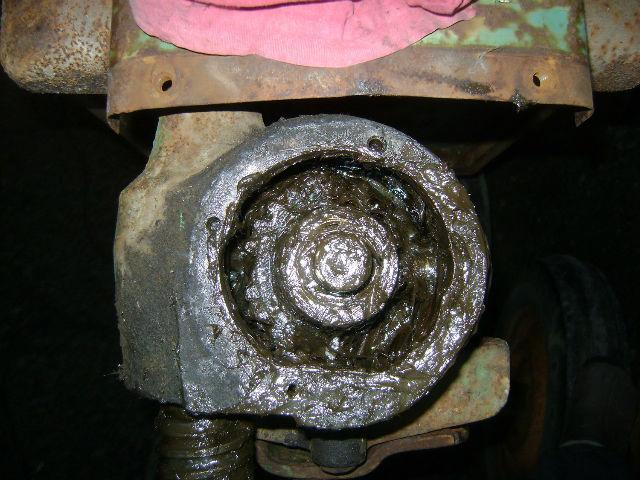 Extraction pignon direction sur JD A 175mj1