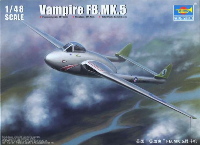 De Havilland Vampire MK5 1/48 Yapxna