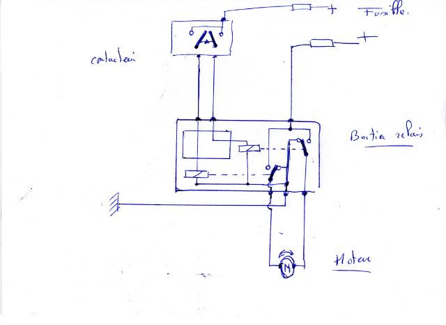 Etude de commande lève-vitre par relais. 070jvw